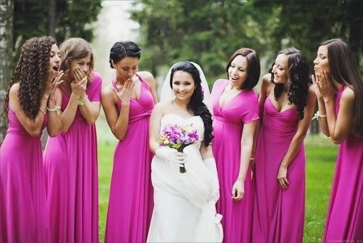 Короткие платья на свадьбу для подружек